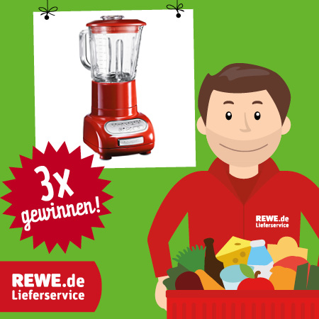 mit rewe lieferservice einen kitchenaid artisan standmixer gewinnen. Black Bedroom Furniture Sets. Home Design Ideas