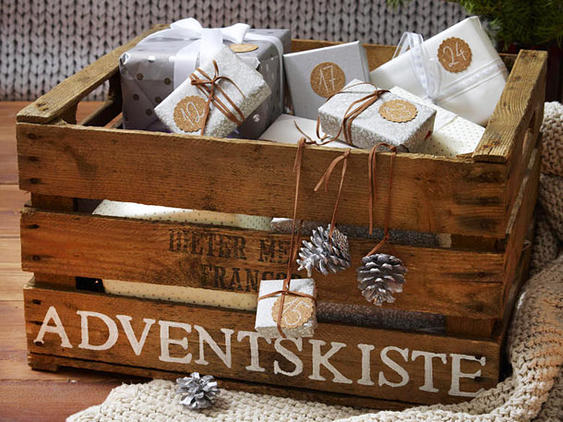 Adventskalender in der Kiste