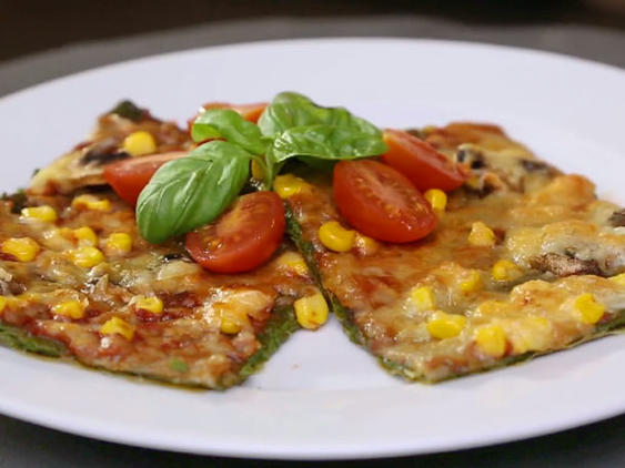 Low Carb Spinat-Pizza