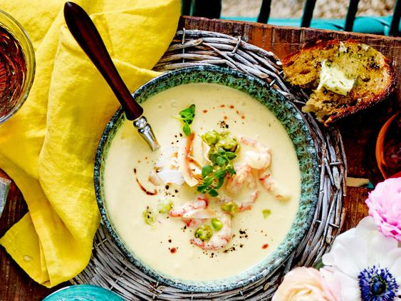 Kokos-Shrimps-Suppe