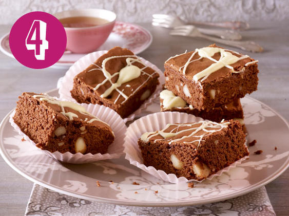 Macadamia-Brownies