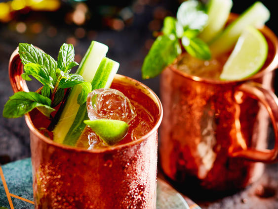 Moscow Mule with cucumber