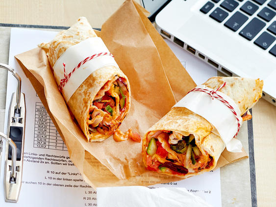 Vegetarischer Wrap