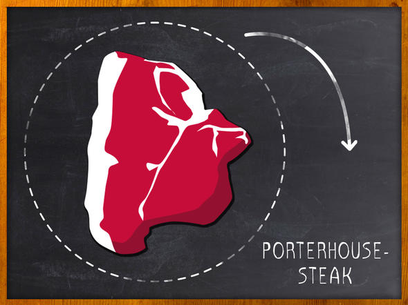 Steak:  Porterhouse-Steak
