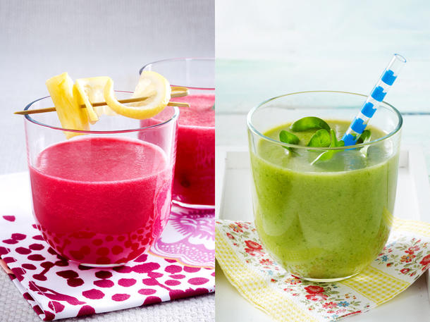 Selbst gemachte Smoothies